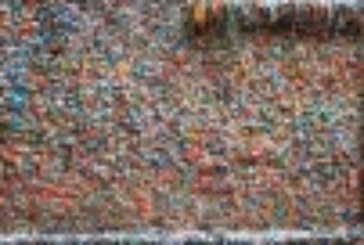 Seattle Gum Wall Getting Cleaned