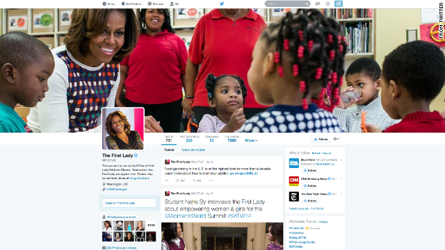 This is an example of how the new Twitter page will look.