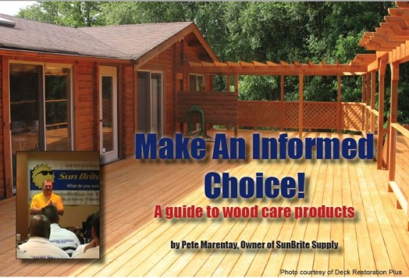 Make An Informed Choice!  A guide to wood care products
