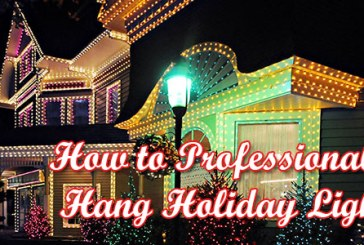 How to Professionally Hang Holiday Lights